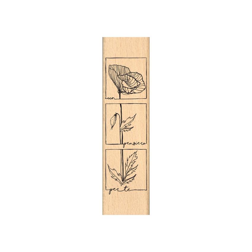 Tampon bois italien Pensiero per te par Florilèges Design. Scrapbooking et loisirs créatifs. Livraison rapide et cadeau dans ...