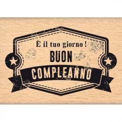 Tampon bois italien E' la tua giornata! par Florilèges Design. Scrapbooking et loisirs créatifs. Livraison rapide et cadeau d...