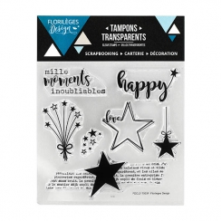 PROMO de -60% sur Tampon clear MILLE MOMENTS Florilèges Design