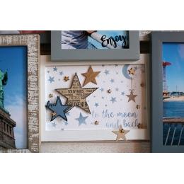 Pochoir TO THE MOON-Capsule Janvier 2017 par Florilèges Design. Scrapbooking et loisirs créatifs. Livraison rapide et cadeau ...