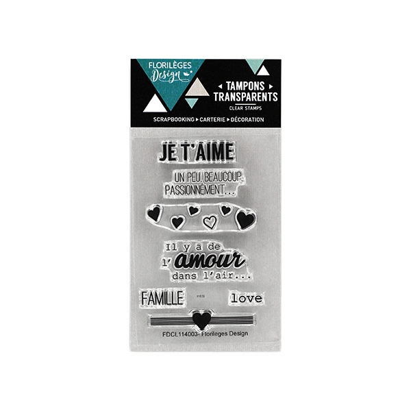 Tampons clear mini JE T'AIME D'AMOUR
