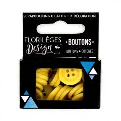 Boutons Mimosa par Florilèges Design. Scrapbooking et loisirs créatifs. Livraison rapide et cadeau dans chaque commande.
