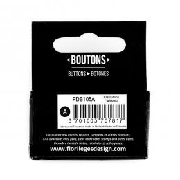PROMO de -99.99% sur Boutons Carmin Florilèges Design