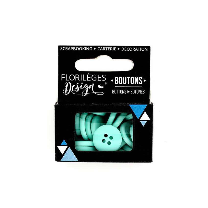 Boutons Céladon par Florilèges Design. Scrapbooking et loisirs créatifs. Livraison rapide et cadeau dans chaque commande.