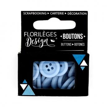 Boutons Bleu acier X3
