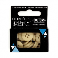 Boutons Sable par Florilèges Design. Scrapbooking et loisirs créatifs. Livraison rapide et cadeau dans chaque commande.