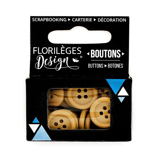 Boutons Cappuccino X3