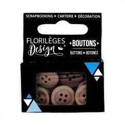 PROMO de -99.99% sur Boutons Brou de noix Florilèges Design