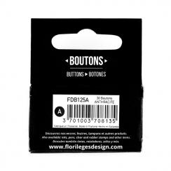 PROMO de -60% sur Boutons Anthracite Florilèges Design