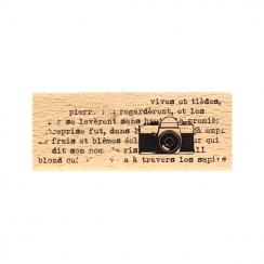 Tampon bois EN PHOTO par Florilèges Design. Scrapbooking et loisirs créatifs. Livraison rapide et cadeau dans chaque commande.