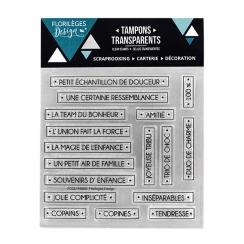 Tampons clear MOTS D'ENFANCE par Florilèges Design. Scrapbooking et loisirs créatifs. Livraison rapide et cadeau dans chaque ...