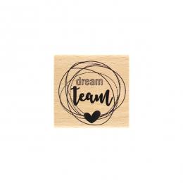 Commandez Tampon bois DREAM TEAM Florilèges Design. Livraison rapide et cadeau dans chaque commande.