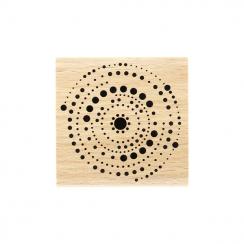 Tampon bois CERCLES EN POINTS par Florilèges Design. Scrapbooking et loisirs créatifs. Livraison rapide et cadeau dans chaque...