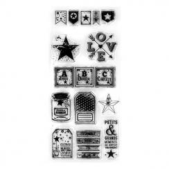 PROMO de -50% sur Tampons clear BEST OF 7 Florilèges Design