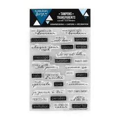 Tampons clear MESSAGES D'AMITIÉ par Florilèges Design. Scrapbooking et loisirs créatifs. Livraison rapide et cadeau dans chaq...