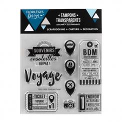 Parfait pour créer : Tampons clear AU BOUT DU MONDE par Florilèges Design. Livraison rapide et cadeau dans chaque commande.
