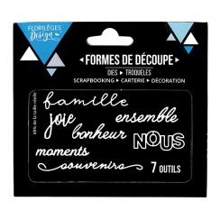 Outils de découpe NOUS par Florilèges Design. Scrapbooking et loisirs créatifs. Livraison rapide et cadeau dans chaque commande.