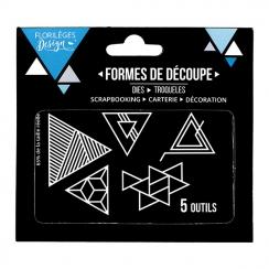 Outils de découpe TRIANGLES GÉOMÉTRIQUES X3