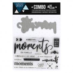 Combo Clear Die MOMENTS par Florilèges Design. Scrapbooking et loisirs créatifs. Livraison rapide et cadeau dans chaque comma...