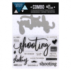 PROMO de -60% sur Combo Clear Die SHOOTING Florilèges Design