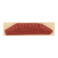 Tampon bois VACANCES BONHEUR