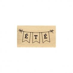 Tampon bois BANDEROLE ÉTÉ par Florilèges Design. Scrapbooking et loisirs créatifs. Livraison rapide et cadeau dans chaque com...