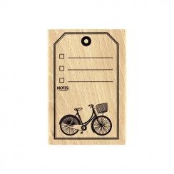 Tampon bois TAG VÉLO par Florilèges Design. Scrapbooking et loisirs créatifs. Livraison rapide et cadeau dans chaque commande.