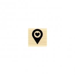 Tampon bois ICI par Florilèges Design. Scrapbooking et loisirs créatifs. Livraison rapide et cadeau dans chaque commande.
