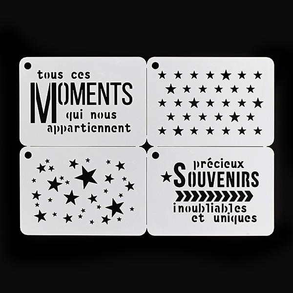Pochoirs MOMENTS ÉTOILÉS X3