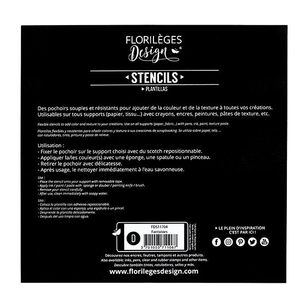 Pochoirs FANTAISIES X3