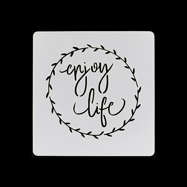 Pochoirs ENJOY LIFE X3