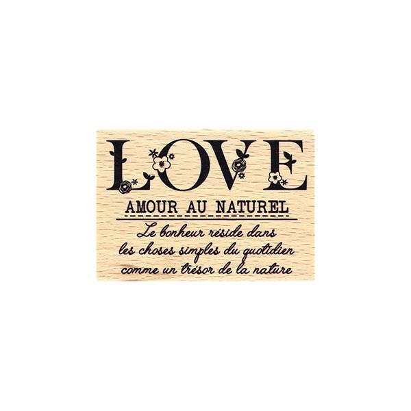 Tampon bois LOVE AU NATUREL