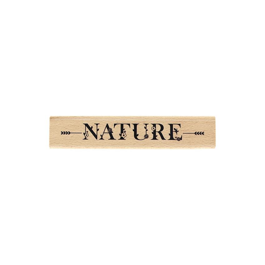 Tampon bois NATURE EN FLEURS