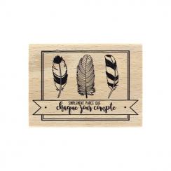 Tampon bois CHAQUE JOUR par Florilèges Design. Scrapbooking et loisirs créatifs. Livraison rapide et cadeau dans chaque comma...