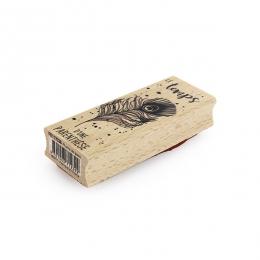 Tampon bois PLUME DE PAON par Florilèges Design. Scrapbooking et loisirs créatifs. Livraison rapide et cadeau dans chaque com...