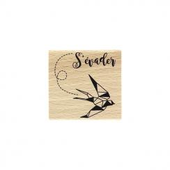 Tampon bois SI ON S'ÉVADAIT par Florilèges Design. Scrapbooking et loisirs créatifs. Livraison rapide et cadeau dans chaque c...