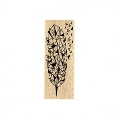 Tampon bois ÉCLAT DE PLUME par Florilèges Design. Scrapbooking et loisirs créatifs. Livraison rapide et cadeau dans chaque co...