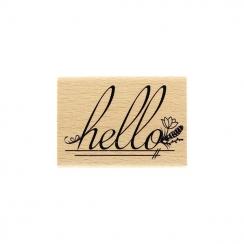 Tampon bois HELLO FLEURI par Florilèges Design. Scrapbooking et loisirs créatifs. Livraison rapide et cadeau dans chaque comm...