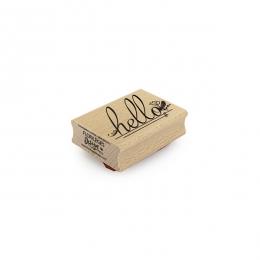 PROMO de  sur Tampon bois HELLO FLEURI Florilèges Design