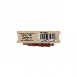 Tampon bois BANNIERE FLORALE par Florilèges Design. Scrapbooking et loisirs créatifs. Livraison rapide et cadeau dans chaque ...