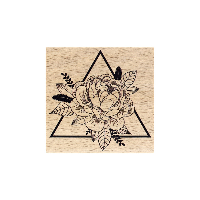 Commandez Tampon bois TRIANGLE FLORAL Florilèges Design. Livraison rapide et cadeau dans chaque commande.