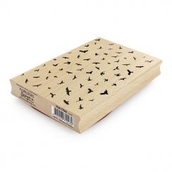 Tampon bois L'ENVOL par Florilèges Design. Scrapbooking et loisirs créatifs. Livraison rapide et cadeau dans chaque commande.