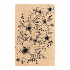 Tampon bois FOND FLORAL par Florilèges Design. Scrapbooking et loisirs créatifs. Livraison rapide et cadeau dans chaque comma...