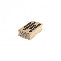 PROMO de -50% sur Tampon bois BONHEUR ARTISANAL