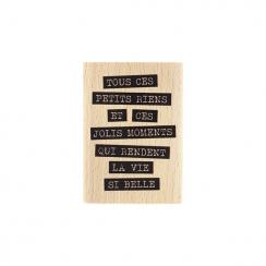 Commandez Tampon bois JOLIS RIENS Florilèges Design. Livraison rapide et cadeau dans chaque commande.