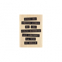 Tampon bois JOLIS RIENS par Florilèges Design. Scrapbooking et loisirs créatifs. Livraison rapide et cadeau dans chaque comma...
