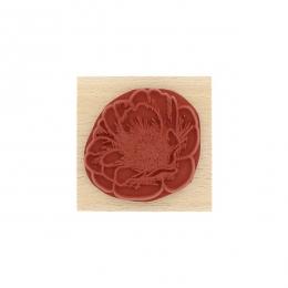 Tampon bois FLEUR ÉCLOSE par Florilèges Design. Scrapbooking et loisirs créatifs. Livraison rapide et cadeau dans chaque comm...
