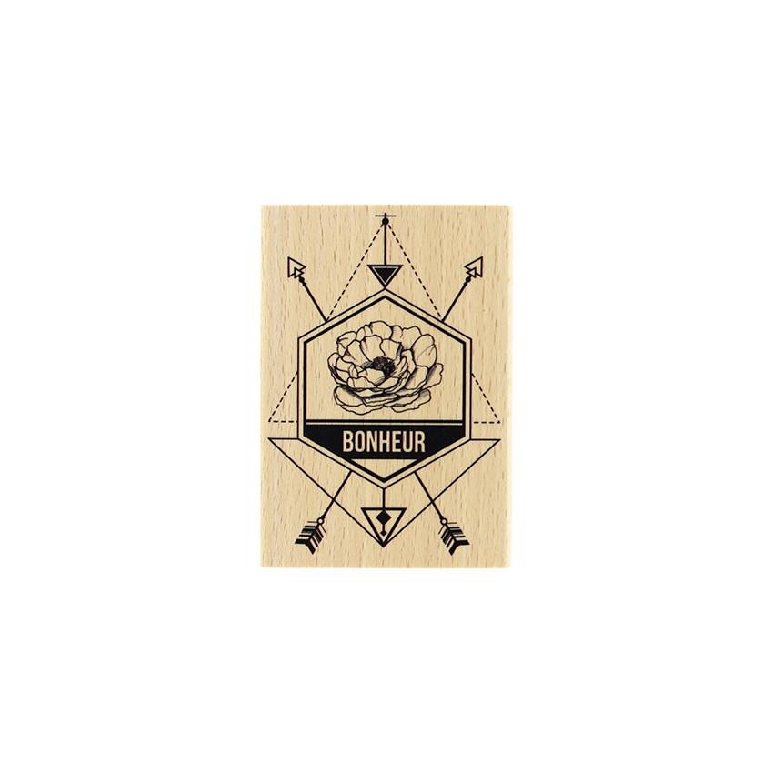 Tampon bois DIRECTION LE BONHEUR