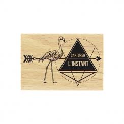 Tampon bois FLAMAND DE L'INSTANT par Florilèges Design. Scrapbooking et loisirs créatifs. Livraison rapide et cadeau dans cha...