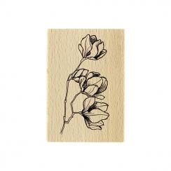 Tampon bois FLEURS EN BOUTONS par Florilèges Design. Scrapbooking et loisirs créatifs. Livraison rapide et cadeau dans chaque...